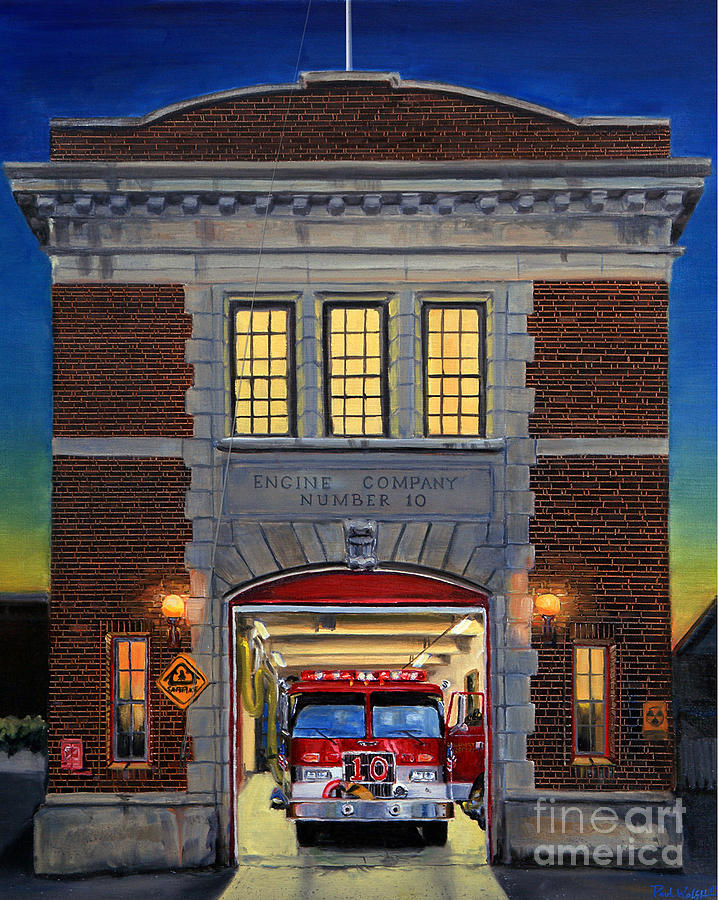 Firehouse Painting - Engine Company 10 by Paul Walsh