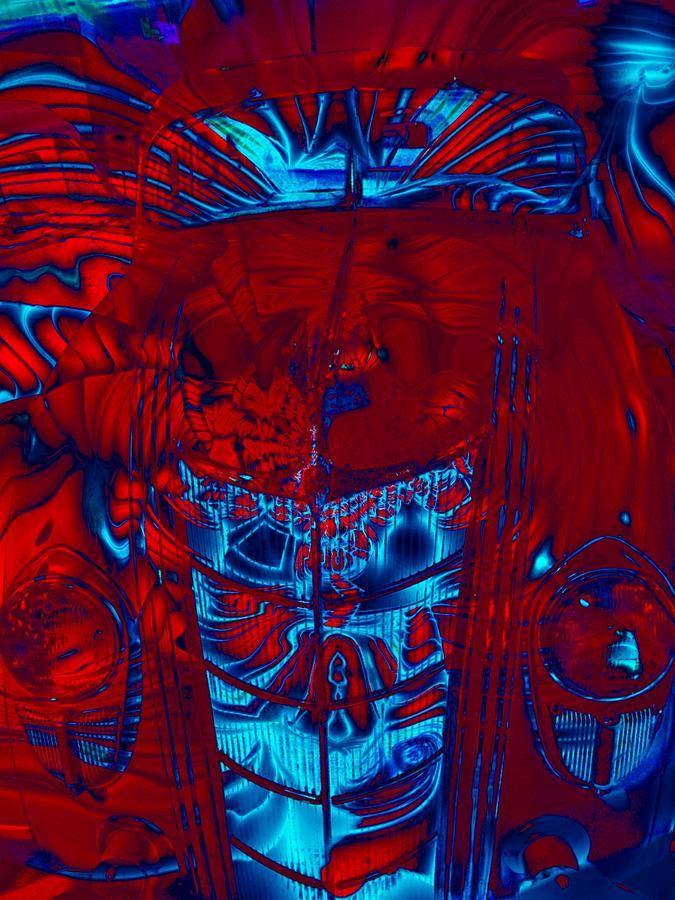 Car Digital Art - Engine Roar by Devalyn Marshall