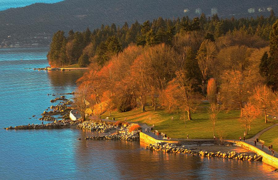 English Bay at Golden Hr. by Sheldon Bilsker