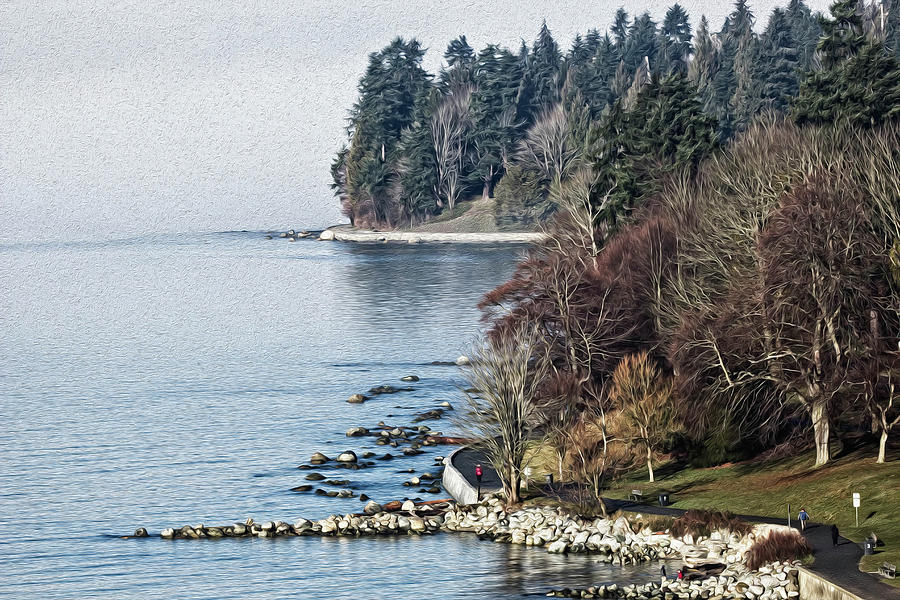 English Bay Shore by Sheldon Bilsker