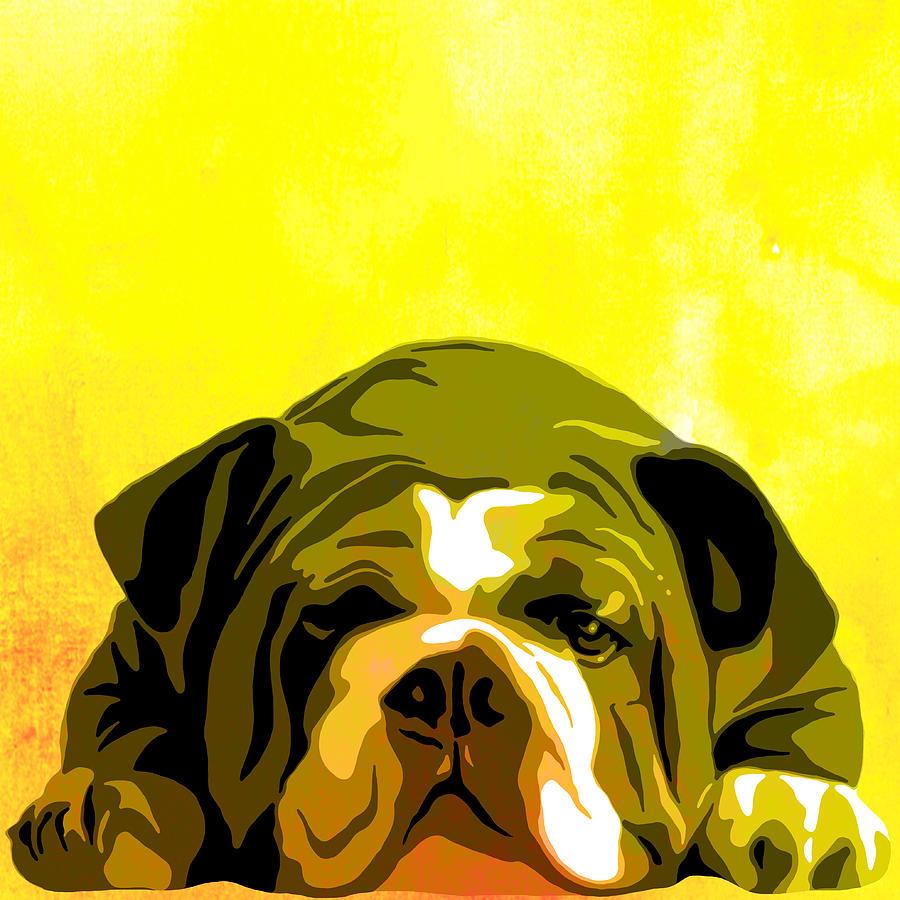 English Bulldog Animal Decorative Wall Poster 3 - By Diana Van ...