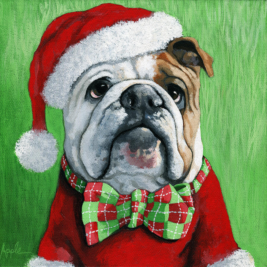 English Bulldog Oil Painting