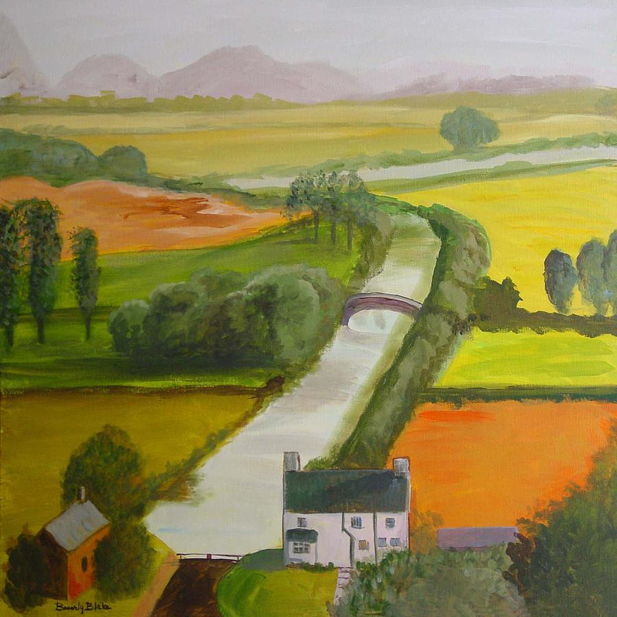 Landscape Painting - English Canal by Blake Originals - Marjorie and Beverly