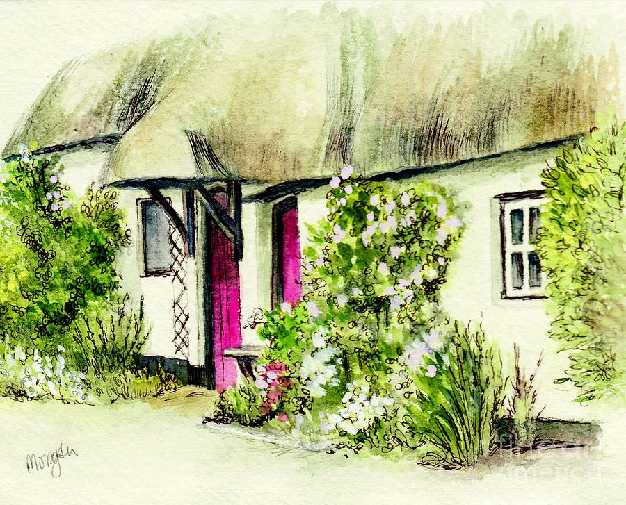 English Country Cottage Series Painting By Morgan Fitzsimons