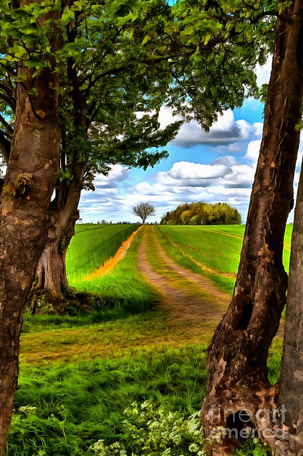 English country lane by Mick Flynn