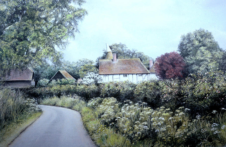 English Country Lane Painting