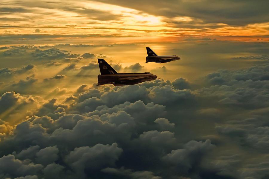 English Electric Lightning Photograph - English Electric Lightning Sunset Flight by Ken Brannen