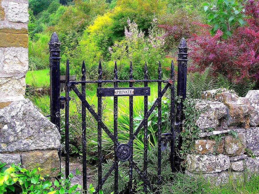 English Garden Photograph - English Garden Gate by Jen White