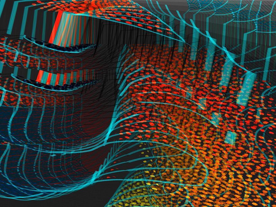 Abstract Digital Art - Enhance by Cooky Goldblatt