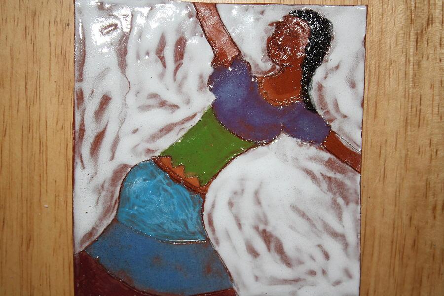 Jesus Ceramic Art - Enid - Tile by Gloria Ssali