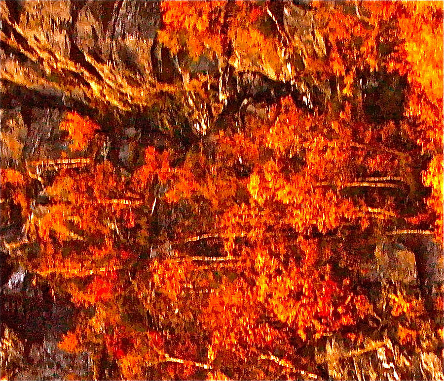 Abstraction Photograph - Enigma Orange by Chris  Riley