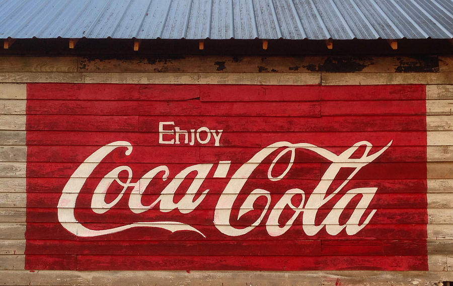 Rural Photograph - Enjoy Coke by Keith May