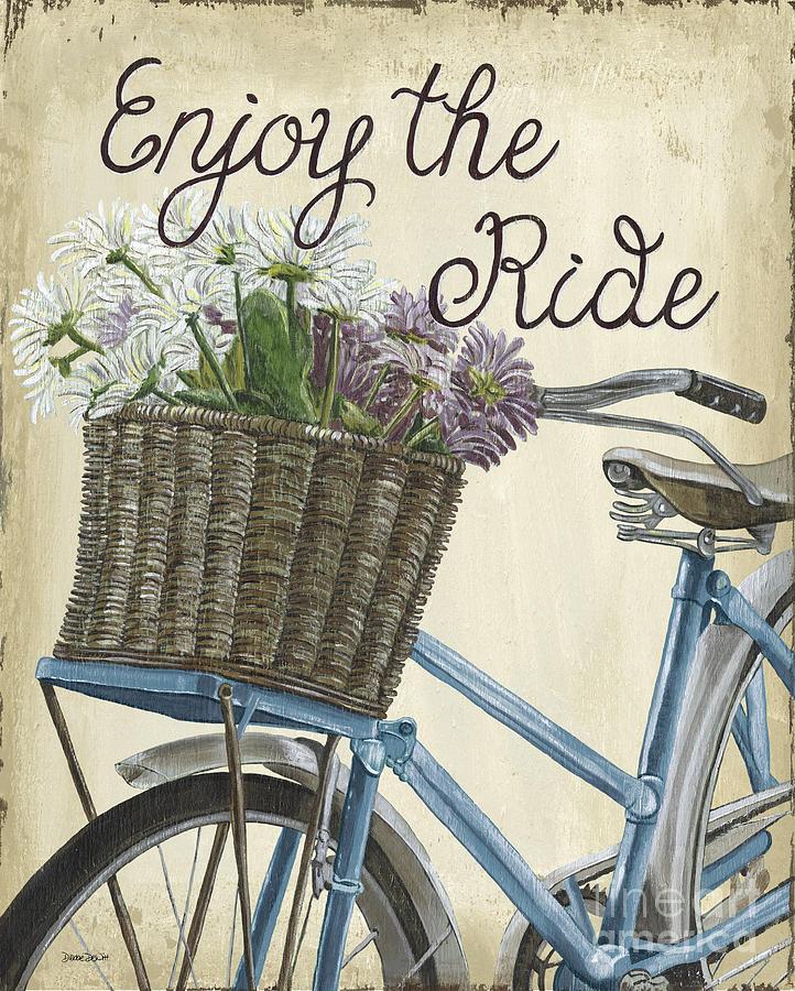 Bike Painting - Enjoy the Ride Vintage by Debbie DeWitt