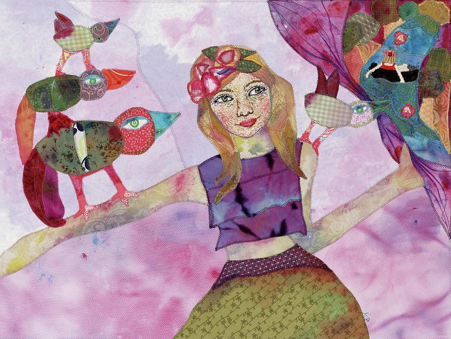 Hippie Mixed Media - Enjoy the Unfolding by Karen Payton