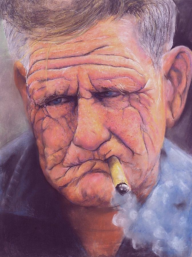 Man Pastel - Enjoying Life by Curtis James