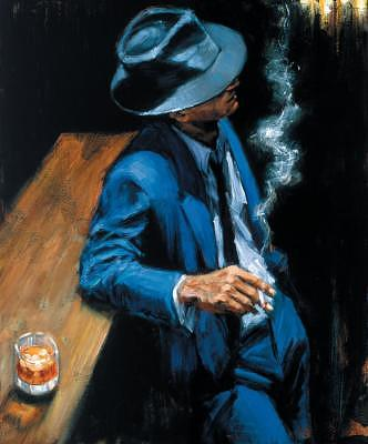 Man At Bar Painting - Enjoying The Pleasures Of The Night by Fabian Perez