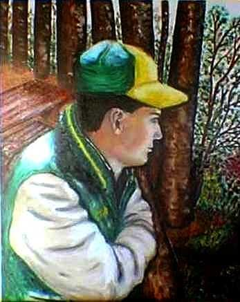 Enjoyment of nature Painting by Tanna Lee M Wells