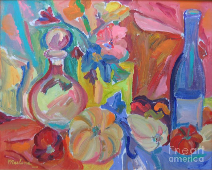 Still Life Painting - Enjoyments by Marlene Robbins