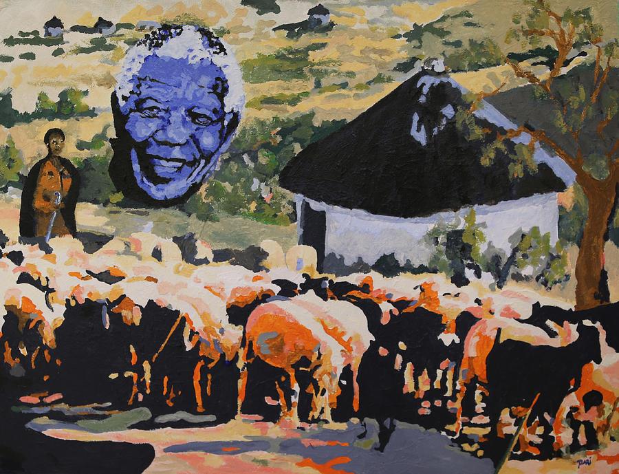 Rainbow Painting - Enkosi Kakhulu Hamba Kahle Tat Umadiba by Dari Artist