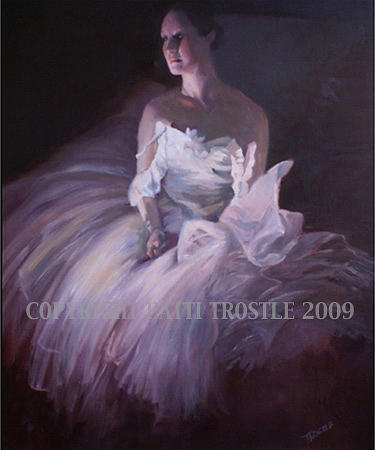 Painting Painting - Enlightened-ballet Dancer Oil Painting by Patti Trostle