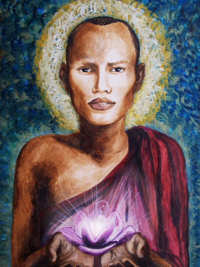 Buddha Painting - Enlightenment by Amber Stanford