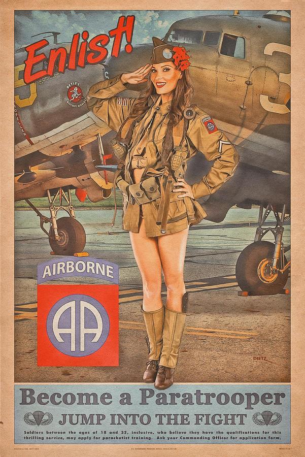 Pinup Photograph - Enlist in the 82nd Airborne by Britt Dietz