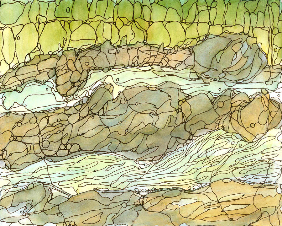 River Painting - Eno River 1 by Katie Ree
