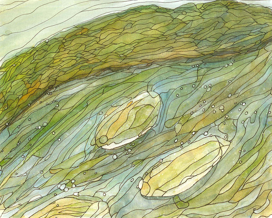 River Painting - Eno River 8 by Katie Ree