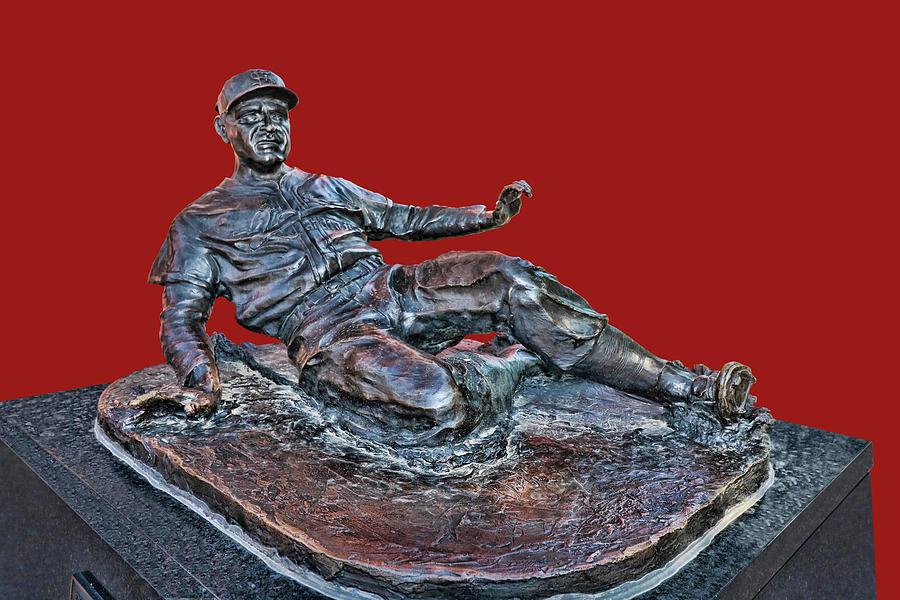 Enos Photograph - Enos Country Slaughter Statue - Busch Stadium by Allen Beatty