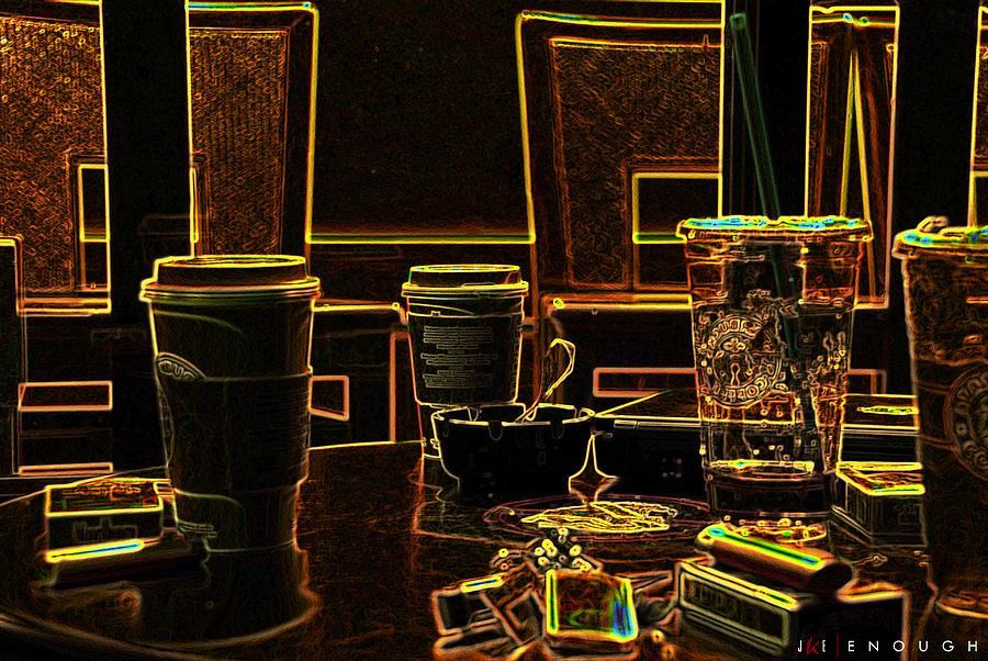Coffee Photograph - Enough by Jonathan Ellis Keys