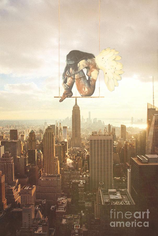 Angel Digital Art - Enough by Jacky Gerritsen