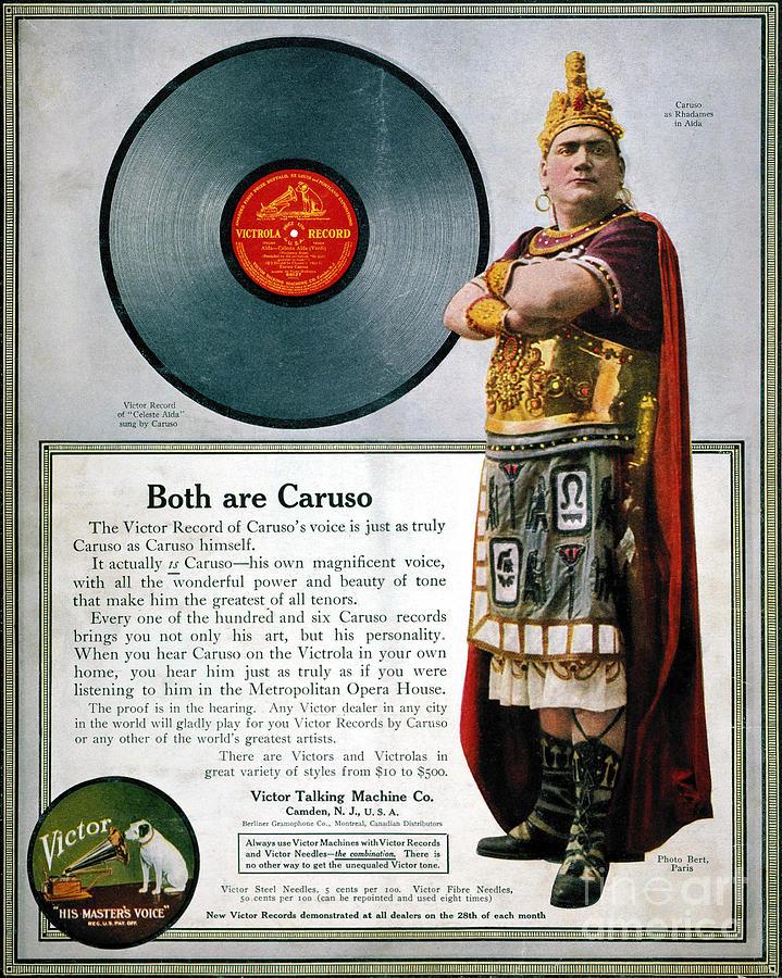1914 Photograph - Enrico Caruso (1873-1921) by Granger