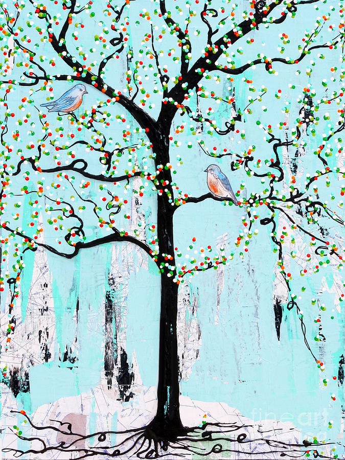 Tree Painting - Enroute by Natalie Briney