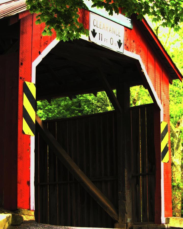 Covered Photograph - Enslow Bridge by John Feiser