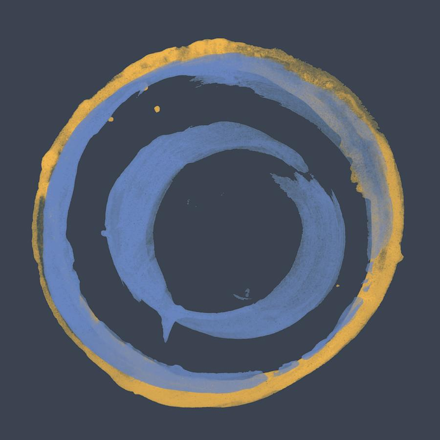 Enso T Blue Orange Painting