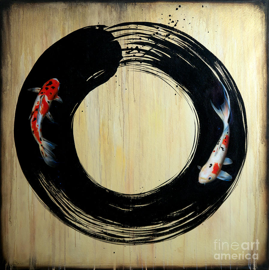 Enso with Koi by Sandi Baker