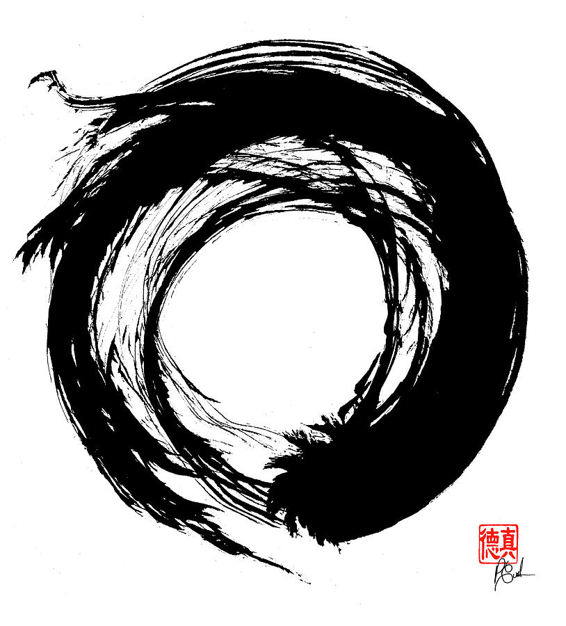 Enso Painting - Enso / Zen Circle 15 by Peter Cutler