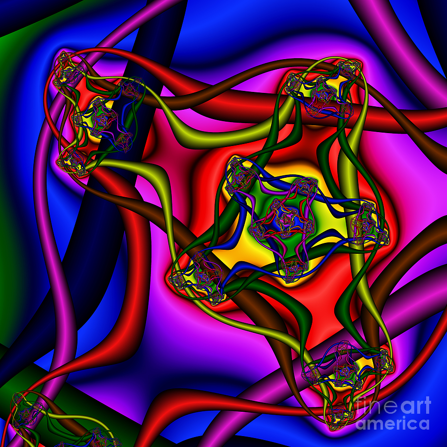Abstract Digital Art - Entangled 114 by Rolf Bertram