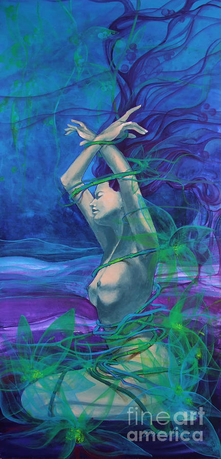 Painting Painting - Entangled In Your Love... by Dorina  Costras