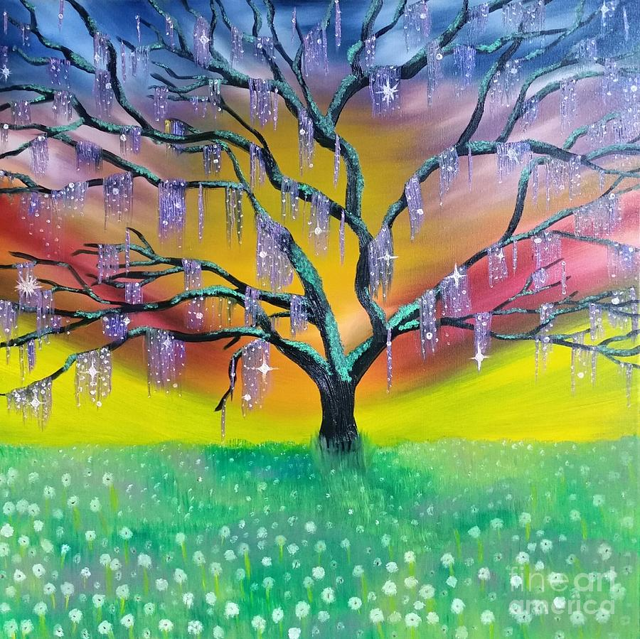 Tree Painting - Entanglement by Roxane Gabriel
