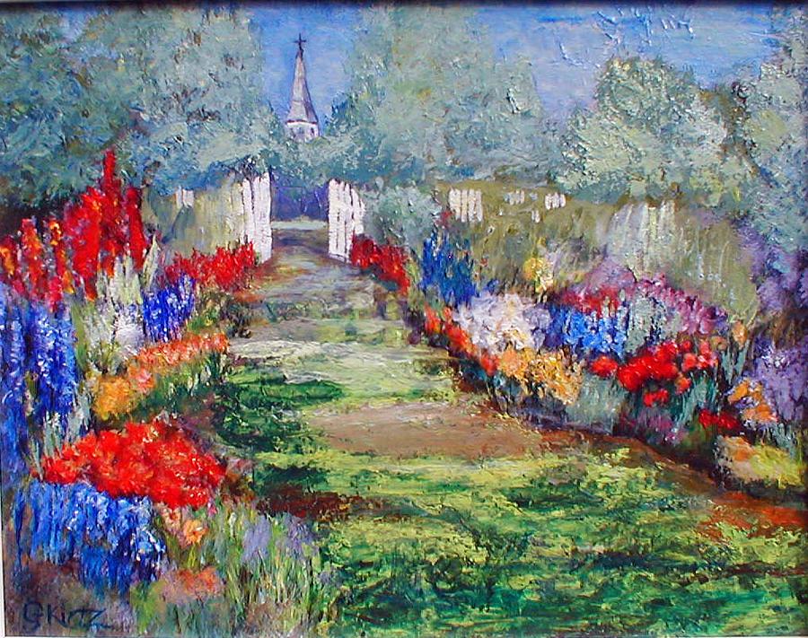 Landscape Painting - Enter His Gates by Gail Kirtz