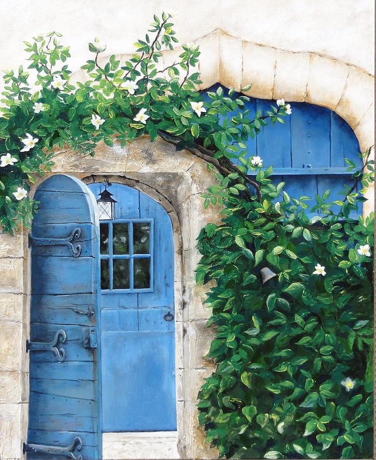Garden Painting - Enter My Garden by Denise H Cooperman