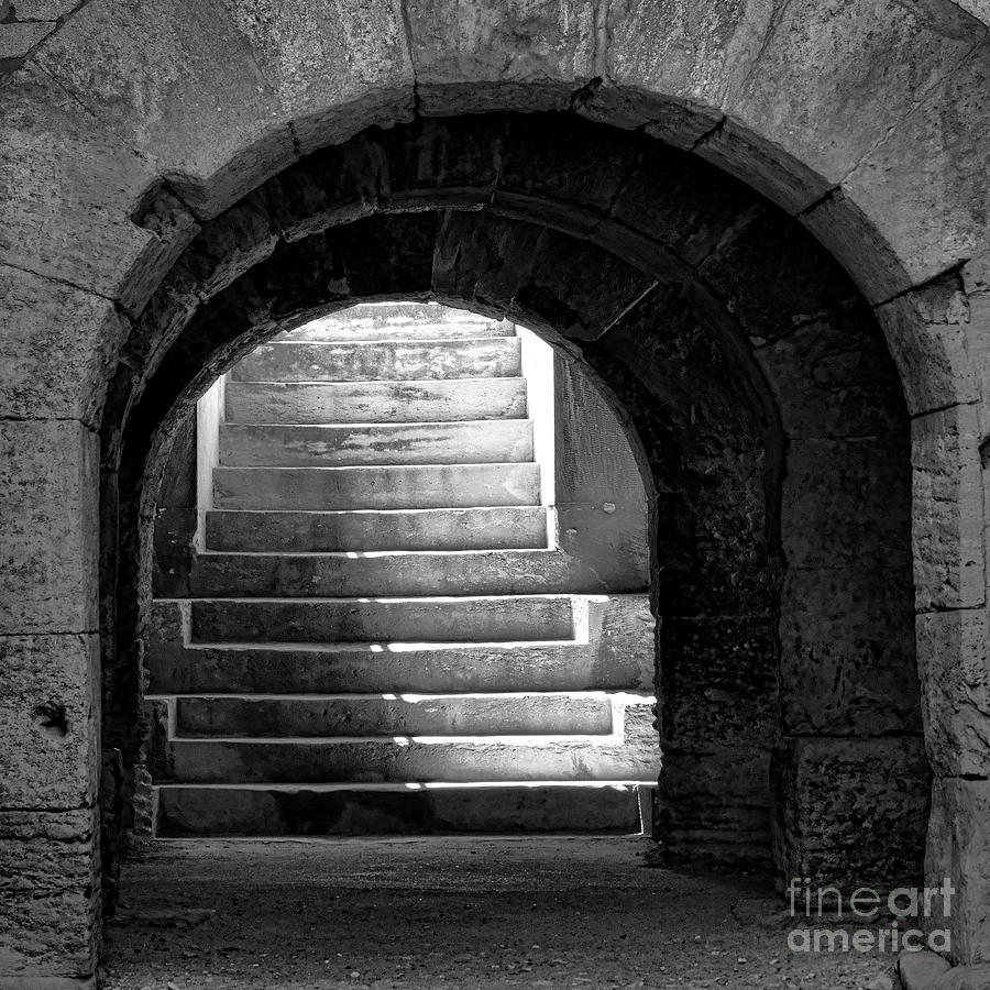 Arles Photograph - Enter The Arena by Olivier Le Queinec