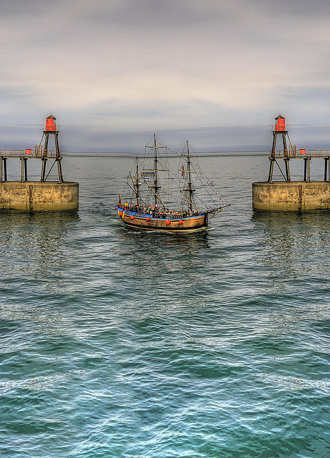 Pier Photograph - Entering by Svetlana Sewell