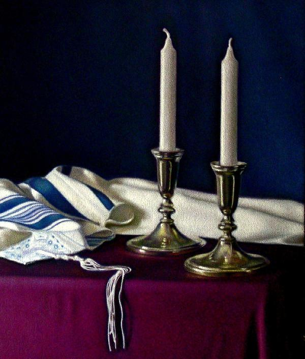 Candles Painting - Entering the Rest by Keith Murray