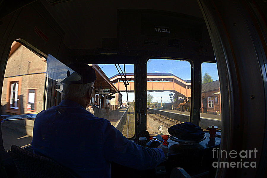 Train Photograph - Entering The Station by Andy Thompson