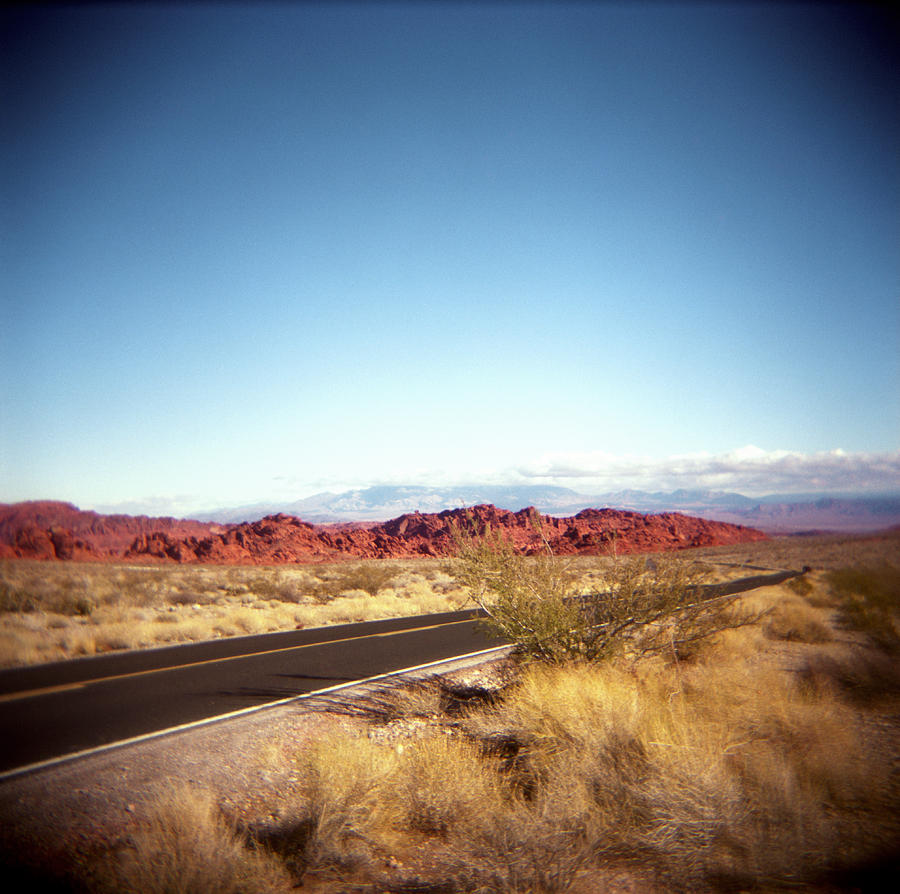 Horizontal Photograph - Entering The Valley Of Fire by Lori Andrews