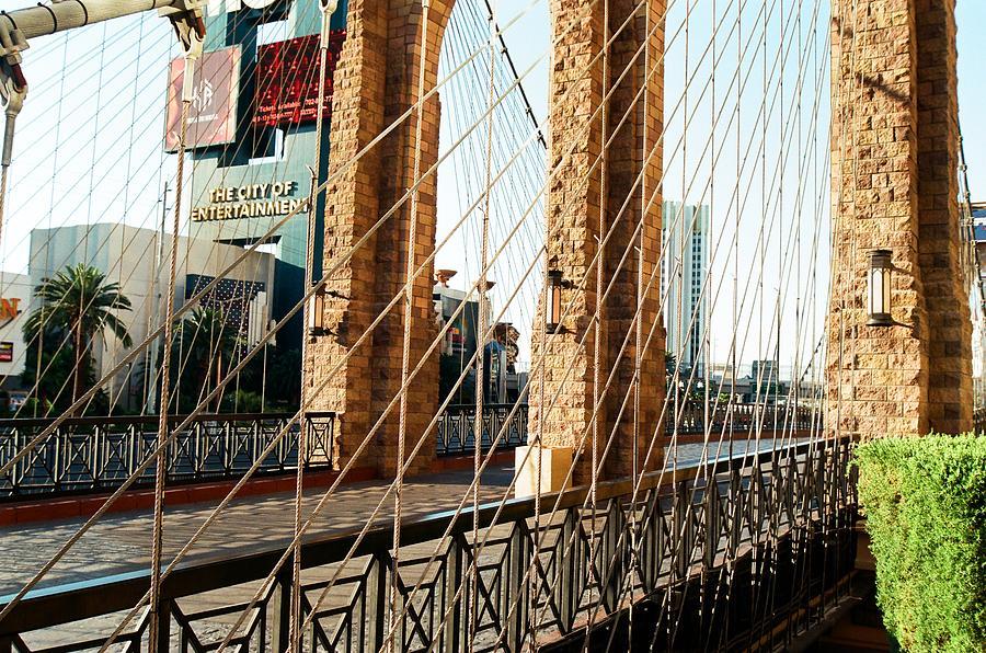 Entertainment City Bridge Photograph by Jonathan Michael Bowman
