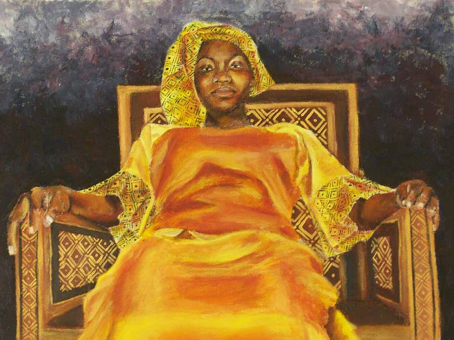 African Girl Painting - Enthroned by Kate Westfall