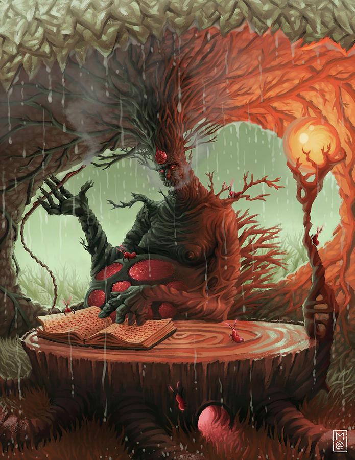 Fantasy Digital Art - Ently by Matt Akin